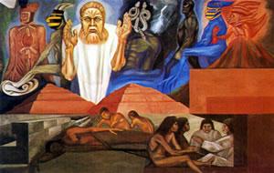 Sab as que los mayas predijeron la venida de for Mural quetzalcoatl