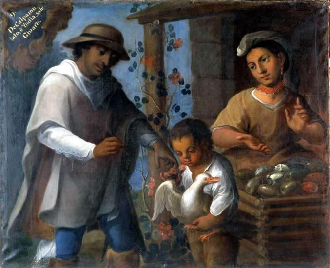 Castas en Nueva España. José Joaquín Magón