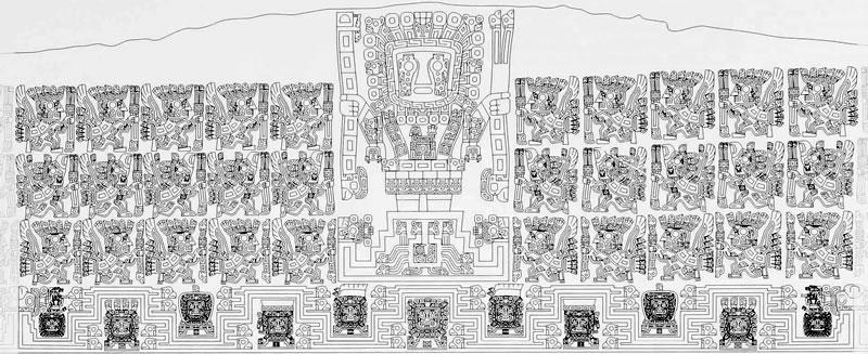 Iconograf a y escritura en tiwanaku tiahuanaco for Que significa la puerta del sol
